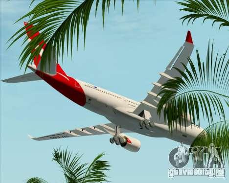 Airbus A330-200 Qantas для GTA San Andreas вид снизу