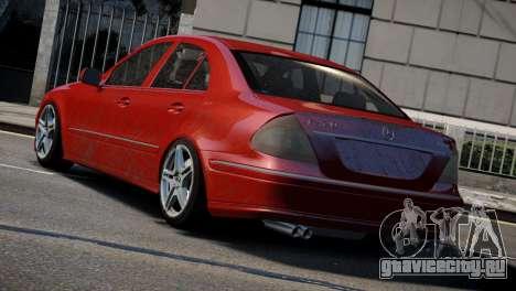 Mercedes-Benz E320 для GTA 4 вид сзади слева