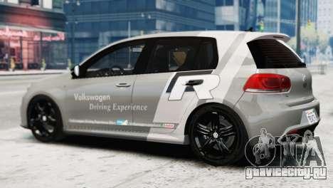 Volkswagen Golf R 2010 Driving Experience для GTA 4 вид слева