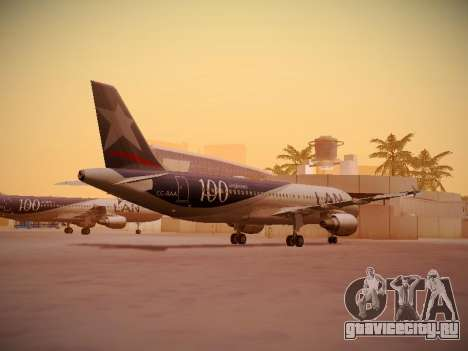 Airbus A320-214 LAN Airlines 100th Plane для GTA San Andreas вид справа