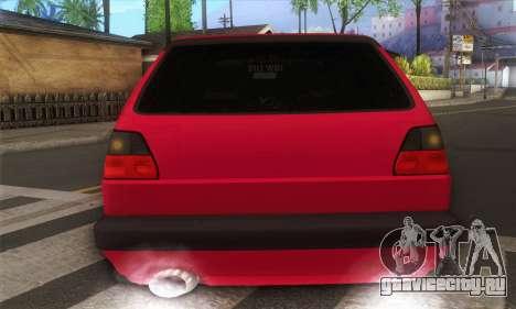 Volkswagen Golf Mk2 Low Life для GTA San Andreas вид справа