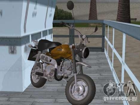 Honda Z50J Monkey для GTA San Andreas вид сзади