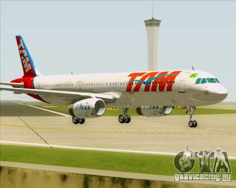 Airbus A321-200 TAM Airlines для GTA San Andreas вид слева