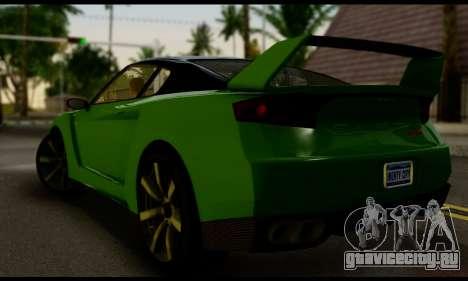 GTA V Elegy RH8 Twin-Turbo (IVF) для GTA San Andreas вид слева