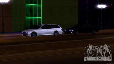BMW 530d для GTA San Andreas вид изнутри