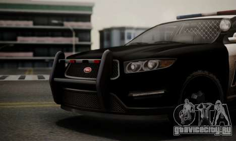 Vapid Police Interceptor from GTA V для GTA San Andreas вид справа