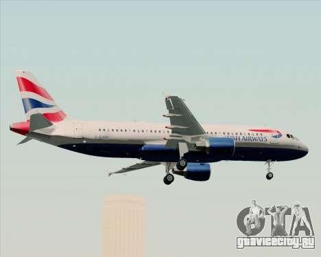 Airbus A320-232 British Airways для GTA San Andreas вид снизу