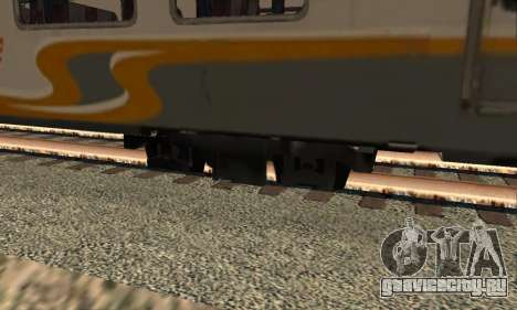 K1 Argo Traincar индонезийский для GTA San Andreas вид сзади слева