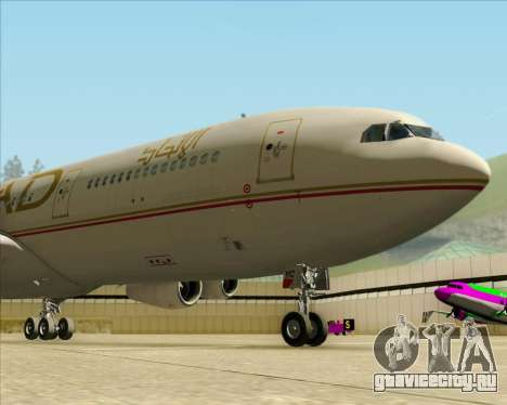 Airbus A340-313 Etihad Airways для GTA San Andreas вид изнутри