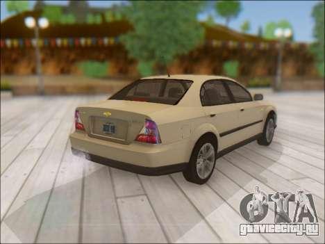 Chevrolet Evanda для GTA San Andreas вид сзади