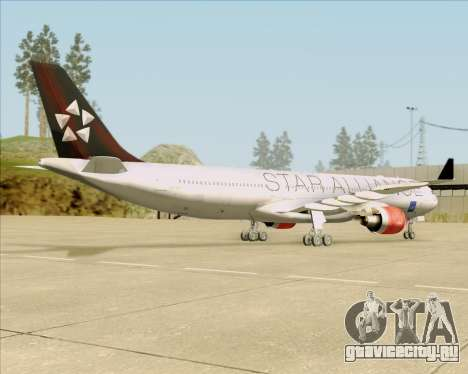 Airbus A330-300 SAS (Star Alliance Livery) для GTA San Andreas вид сзади