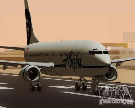 Boeing 737-890 Alaska Airlines для GTA San Andreas вид слева