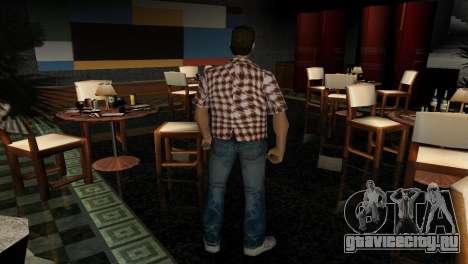 Kockas polo - narancs sarga T-Shirt для GTA Vice City
