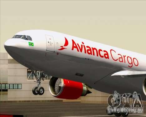 Airbus A330-243F Avianca Cargo для GTA San Andreas вид изнутри
