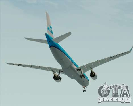 Airbus A330-300 KLM Royal Dutch Airlines для GTA San Andreas вид сверху