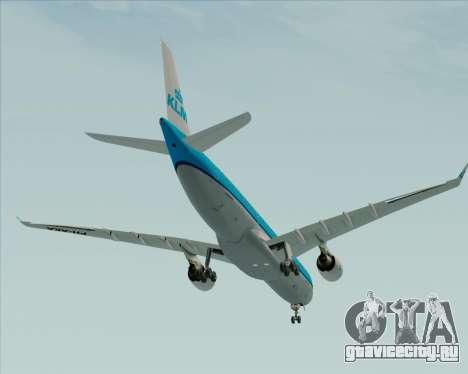 Airbus A330-300 KLM Royal Dutch Airlines для GTA San Andreas вид сверху