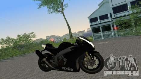 Aprilia RSV4 2009 Black Edition для GTA Vice City вид справа