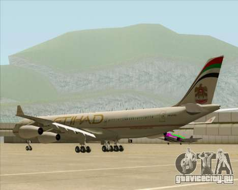 Airbus A340-313 Etihad Airways для GTA San Andreas вид справа