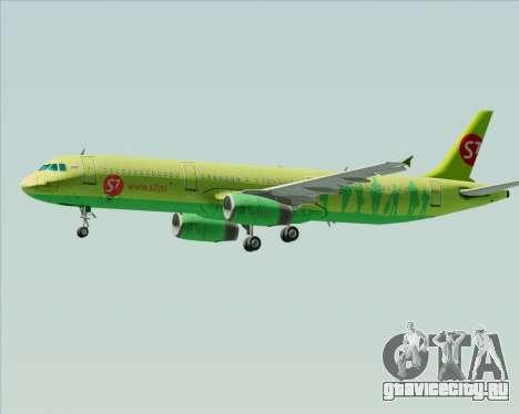 Airbus A321-200 S7 - Siberia Airlines для GTA San Andreas колёса