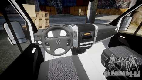 Mercedes-Benz Sprinter ARM Ambulance [ELS] для GTA 4 вид сзади
