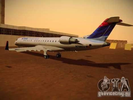 Bombardier CRJ-700 Delta Connection для GTA San Andreas вид сзади слева