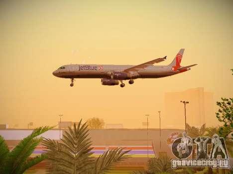 Airbus A321-232 jetBlue Boston Red Sox для GTA San Andreas вид снизу