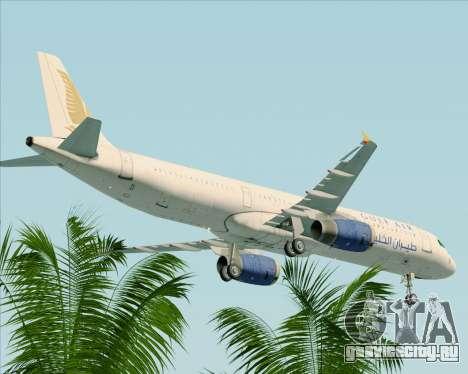Airbus A321-200 Gulf Air для GTA San Andreas вид сверху
