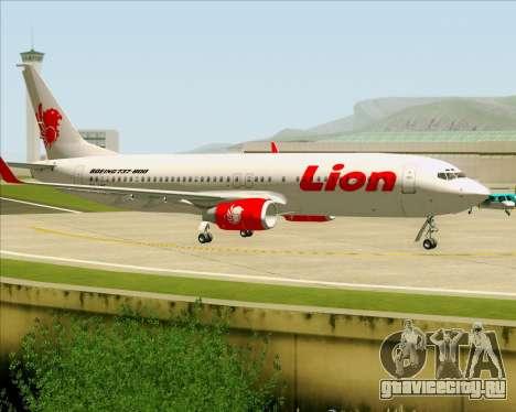 Boeing 737-800 Lion Air для GTA San Andreas вид изнутри