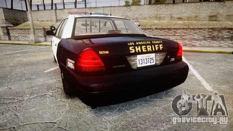 Ford Crown Victoria LASD [ELS] Marked для GTA 4 вид сзади слева