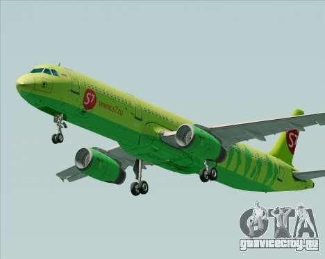 Airbus A321-200 S7 - Siberia Airlines для GTA San Andreas вид изнутри