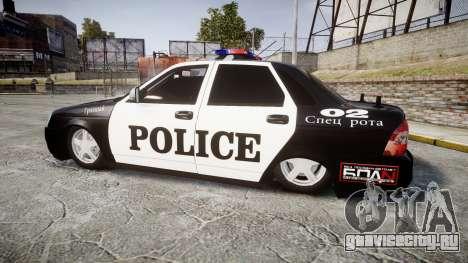 ВАЗ-2170 Приора Police для GTA 4 вид слева