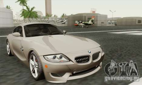 BMW Z4M Coupe 2008 Stock для GTA San Andreas