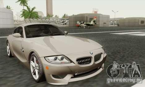 BMW Z4M Coupe 2008 Stock для GTA San Andreas