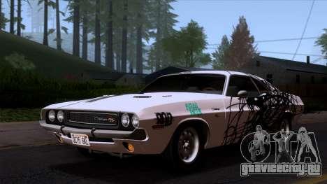 Dodge Challenger 426 Hemi (JS23) 1970 (HQLM) для GTA San Andreas вид сверху