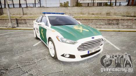 Ford Mondeo 2014 Guardia Civil Cops [ELS] для GTA 4