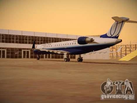 Bombardier CRJ-700 United Express для GTA San Andreas вид справа