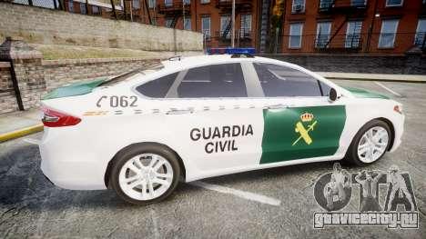 Ford Mondeo 2014 Guardia Civil Cops [ELS] для GTA 4 вид слева