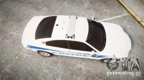 Dodge Charger RT 2013 PS Police [ELS] для GTA 4 вид справа