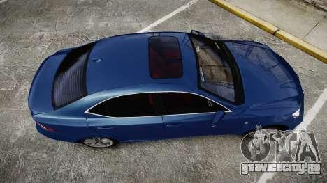 Lexus IS 350 F-Sport 2014 Rims1 для GTA 4 вид справа
