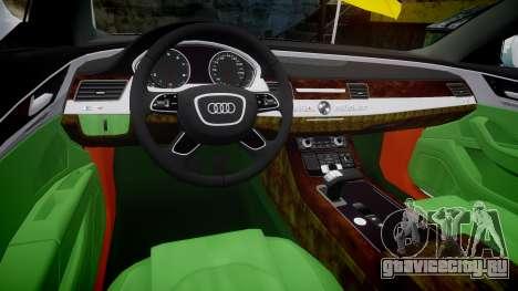 Audi A8 Limousine для GTA 4 вид изнутри