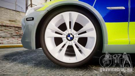 BMW 530d F11 Metropolitan Police [ELS] для GTA 4 вид сзади