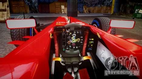 Ferrari F138 v2.0 [RIV] Alonso TFW для GTA 4 вид изнутри