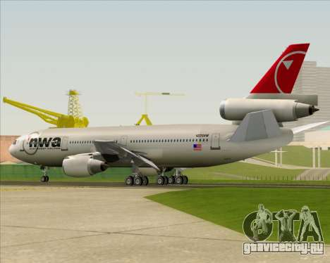 McDonnell Douglas DC-10-30 Northwest Airlines для GTA San Andreas вид снизу