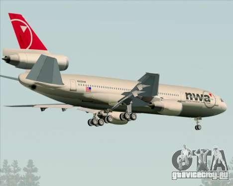 McDonnell Douglas DC-10-30 Northwest Airlines для GTA San Andreas вид справа