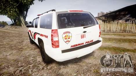 Chevrolet Suburban 2008 Police [ELS] Red & Blue для GTA 4 вид сзади слева
