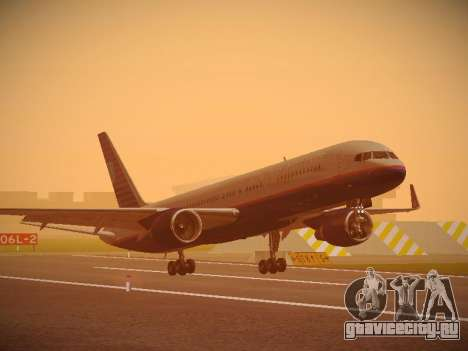 Boeing 757-224 United Airlines для GTA San Andreas вид слева