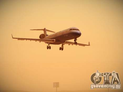 Bombardier CRJ-700 United Express для GTA San Andreas вид слева