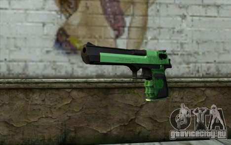 Зеленый Desert Eagle для GTA San Andreas