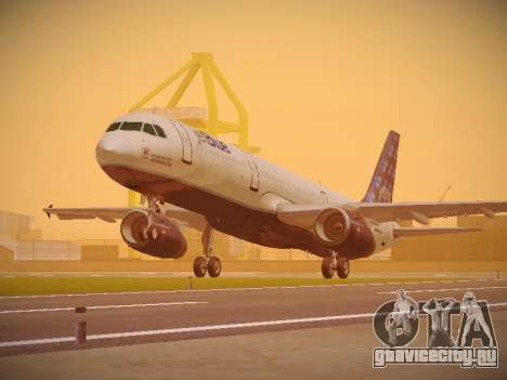 Airbus A321-232 Lets talk about Blue для GTA San Andreas