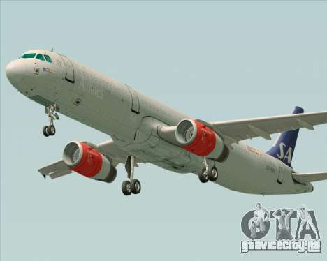 Airbus A321-200 Scandinavian Airlines System для GTA San Andreas вид слева